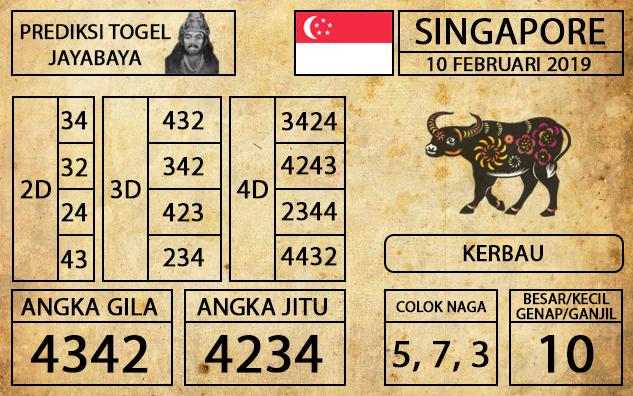 Prediksi Togel Singapura Hari ini 10 Februari 2019 - Mabosway