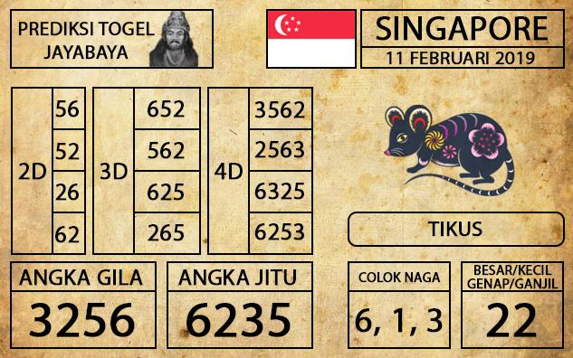 Prediksi Togel Singapura Hari ini 11 Februari 2019 - Mabosway