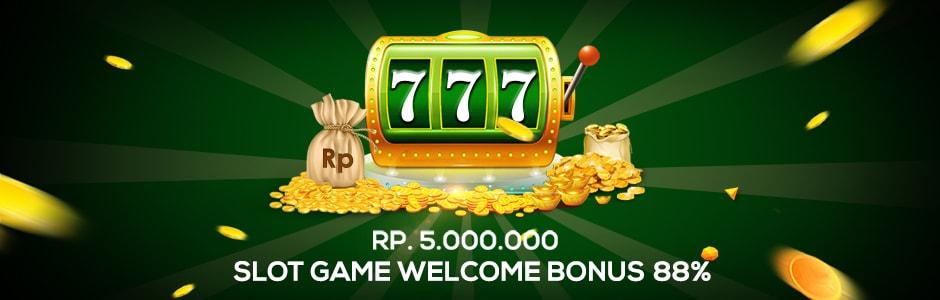 Slot Game Welcome Bonus 88%