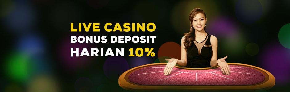 Live Casino Bonus Deposit Harian 10%