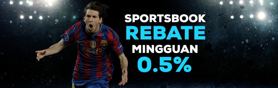 Sportsbook Rebate Mingguan 0.5%