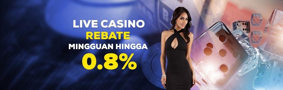 Live Casino Komisi Rebate Sampai 0.8%