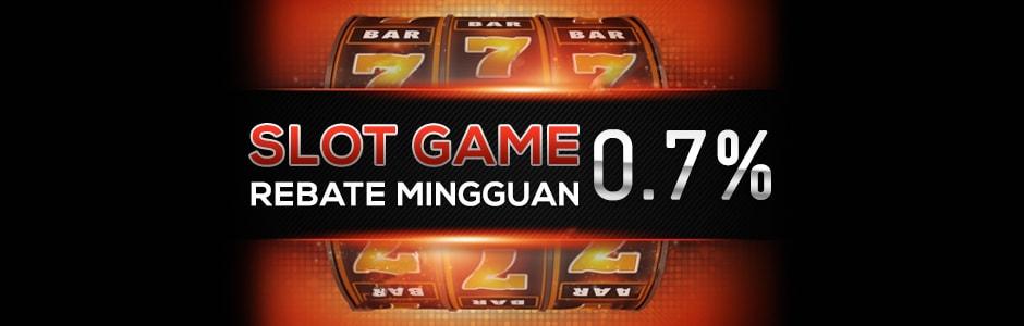 Slot Game Rebate Mingguan 0.7%
