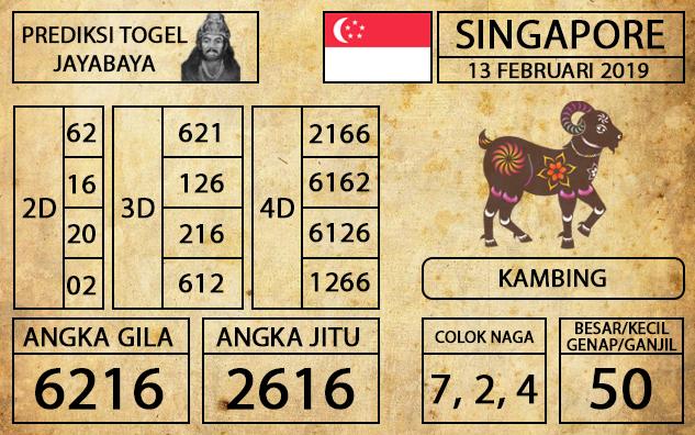 Prediksi Togel Singapura Hari ini 13 Februari 2019 - Mabosway