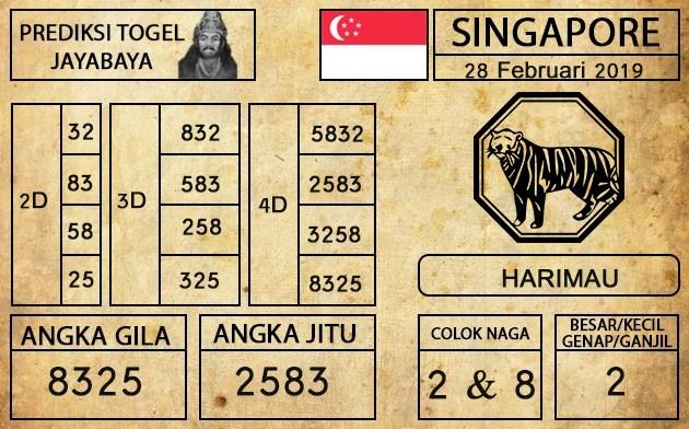 Prediksi Togel Singapura Hari ini 28 Februari 2019