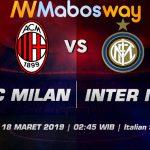 Prediksi Bola AC Milan vs Inter Milan 18 Maret 2019