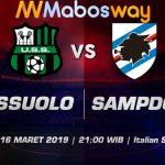 Prediksi Bola Sassuolo vs Sampdoria 16 Maret 2019